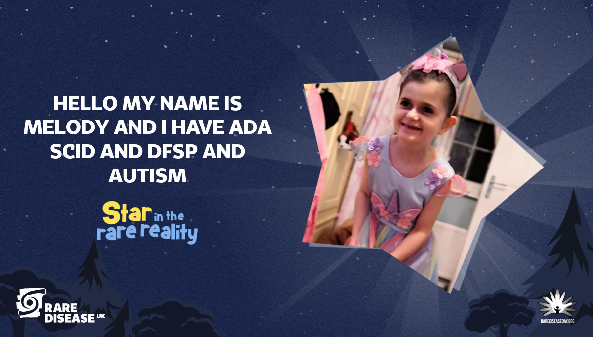 Hello my name is melody and i have ada scid and dfsp and autism