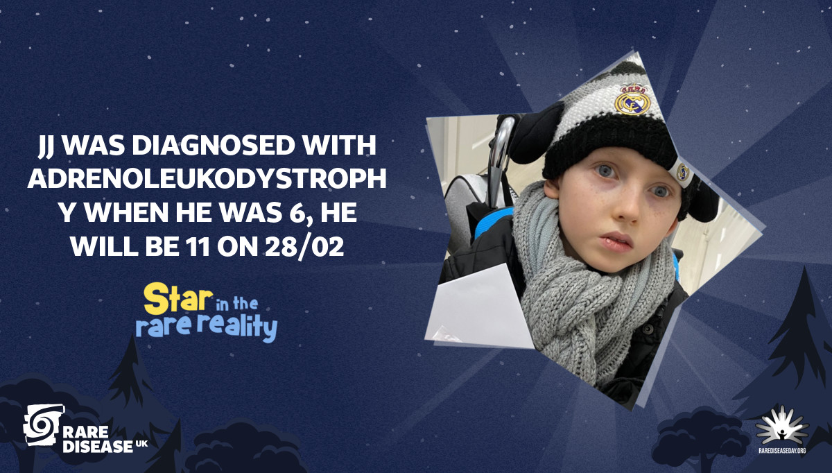 JJ was diagnosed with Adrenoleukodystrophy when he was 6, he will be 11 on 28/02