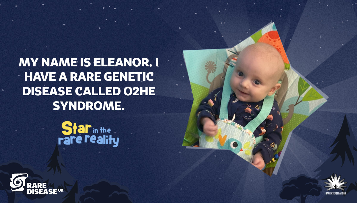 My name is Eleanor. I have a rare genetic disease called O2HE Syndrome.