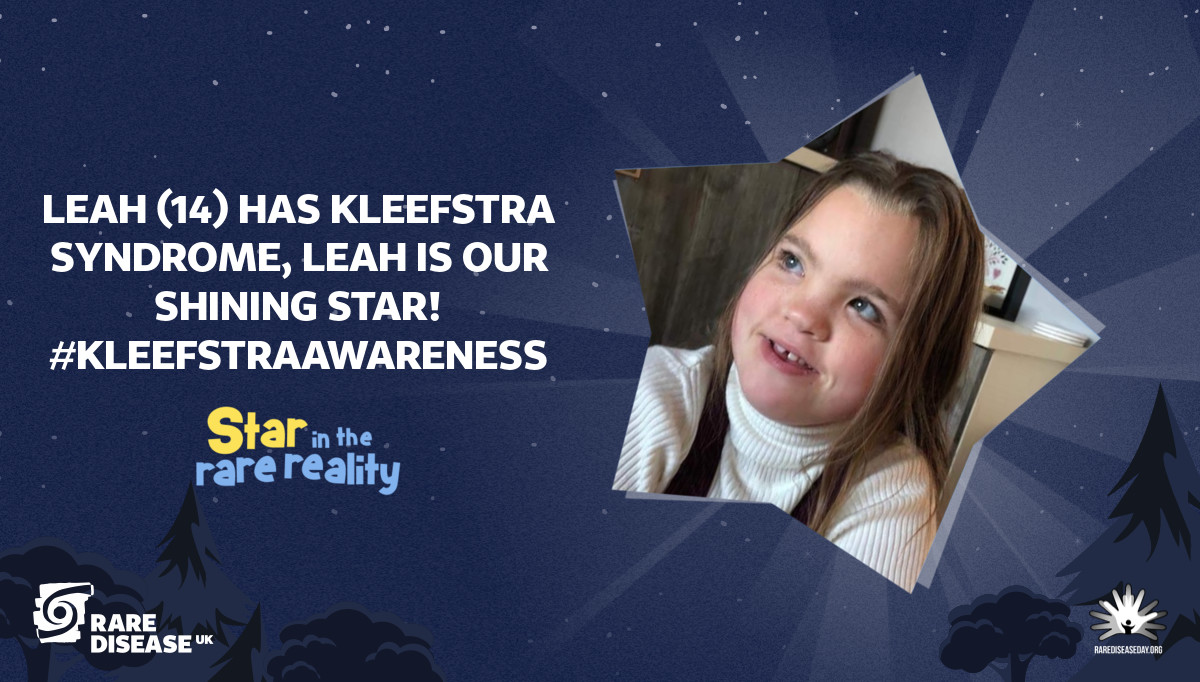 Leah (14) has Kleefstra syndrome, Leah is our shining star! #KleefstraAwareness