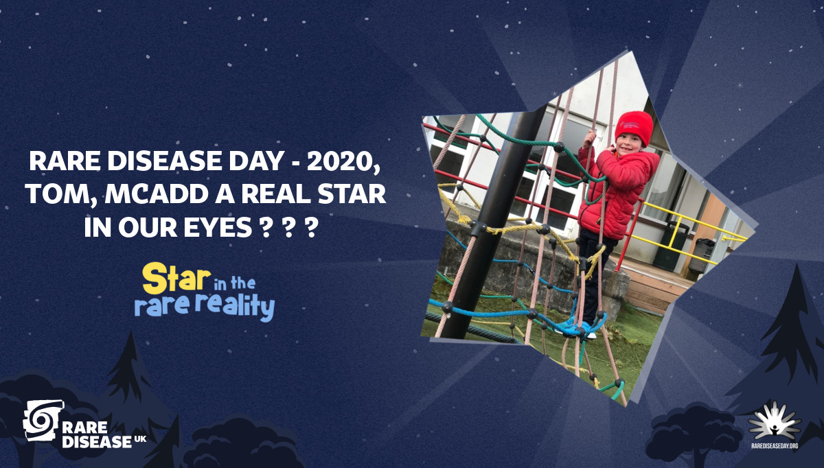 Rare disease day - 2020, Tom, MCADD a real star In our eyes 🤩🤩🤩