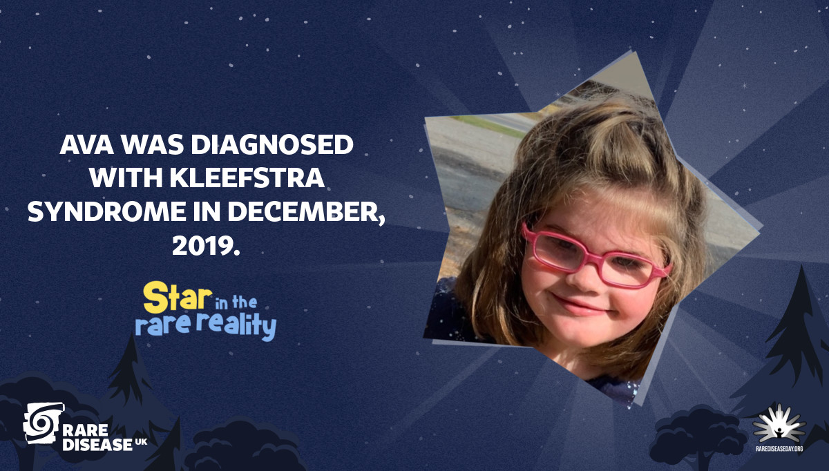 Ava was diagnosed with Kleefstra Syndrome in December, 2019.