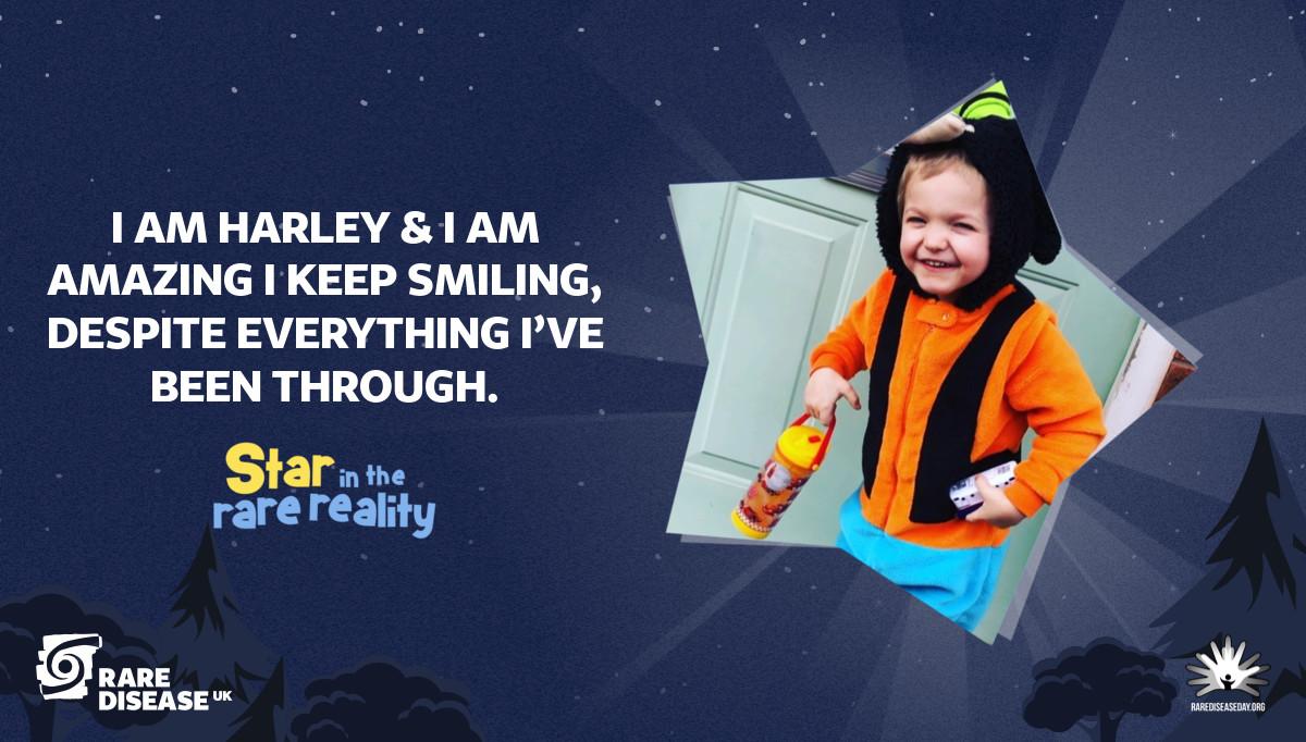 I am Harley & I am amazing I keep smiling, despite everything I've been through.