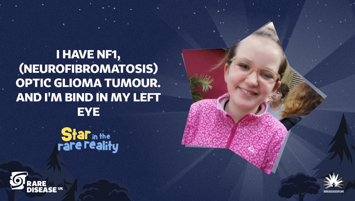 I have NF1, (NEUROFIBROMATOSIS) optic glioma tumour. And I'm bind in my left eye