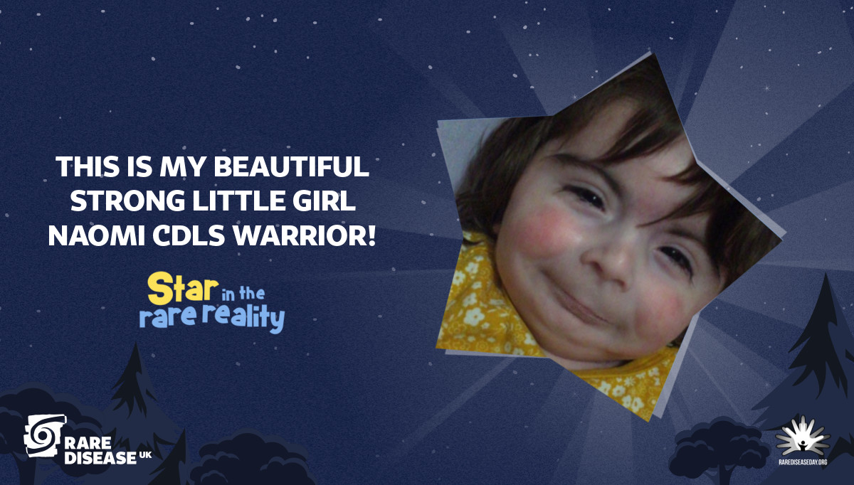 This is My beautiful strong little girl Naomi  CDLS WARRIOR!