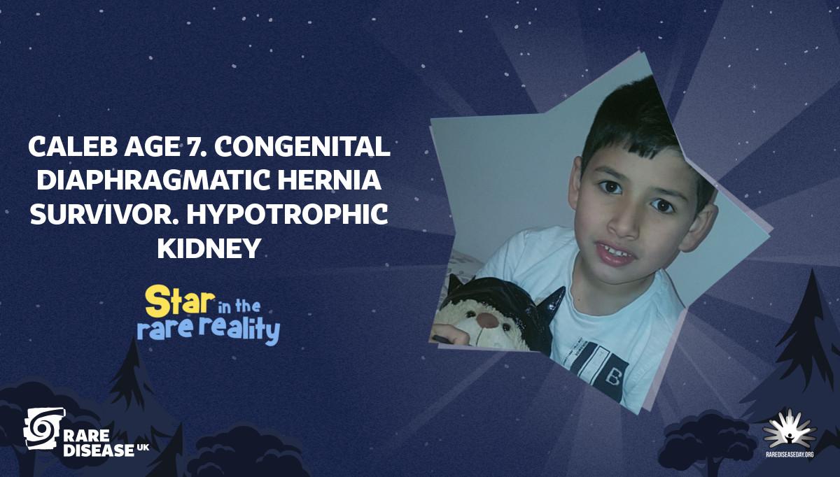 Caleb Age 7. Congenital Diaphragmatic Hernia Survivor. Hypotrophic Kidney