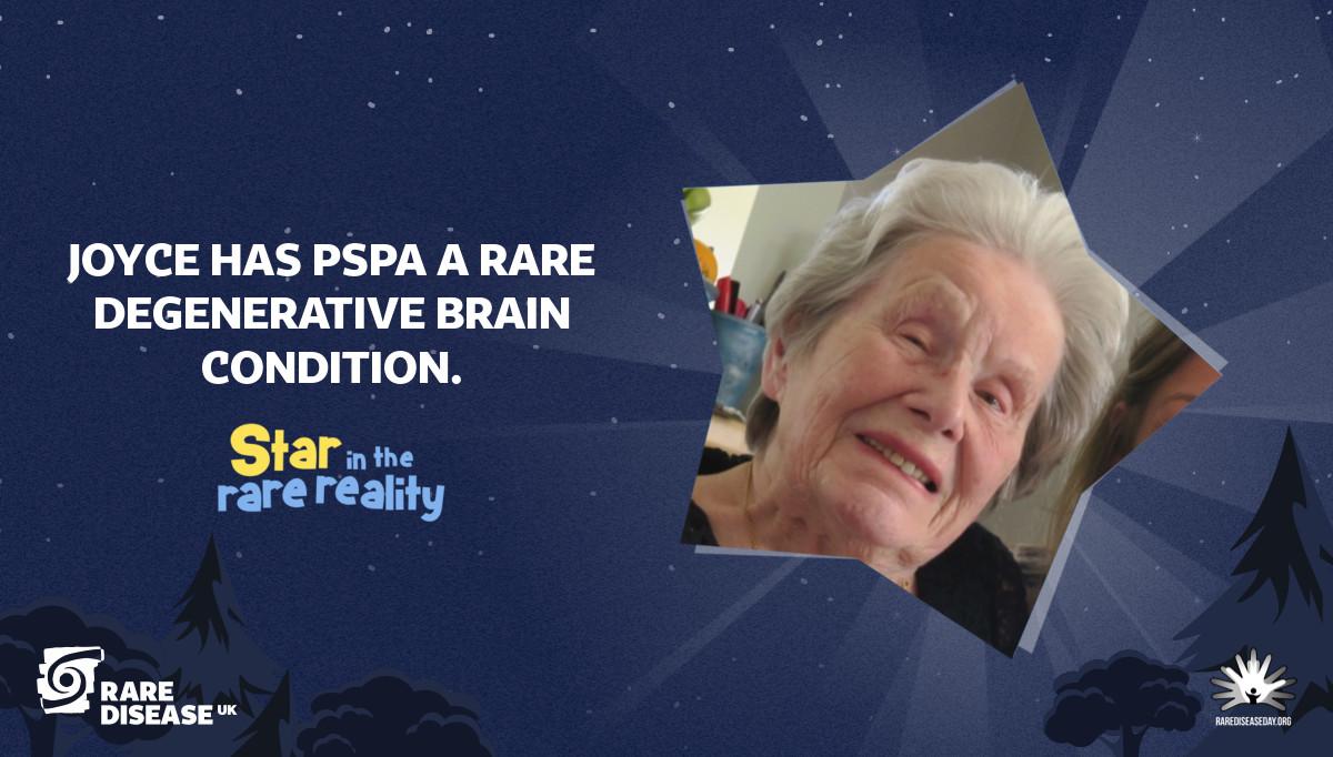 Joyce has PSPA a rare degenerative brain condition.