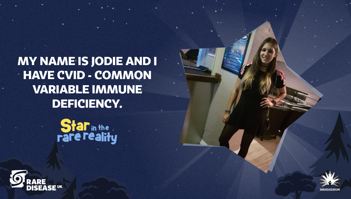 My name is Jodie and I have CVID - Common Variable Immune Deficiency.