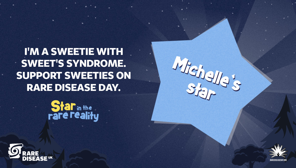I'm a Sweetie with Sweet's syndrome. Support Sweeties on Rare Disease Day.