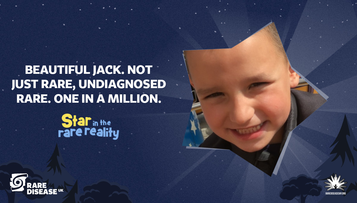 Beautiful Jack. Not just rare, undiagnosed rare. One in a million.