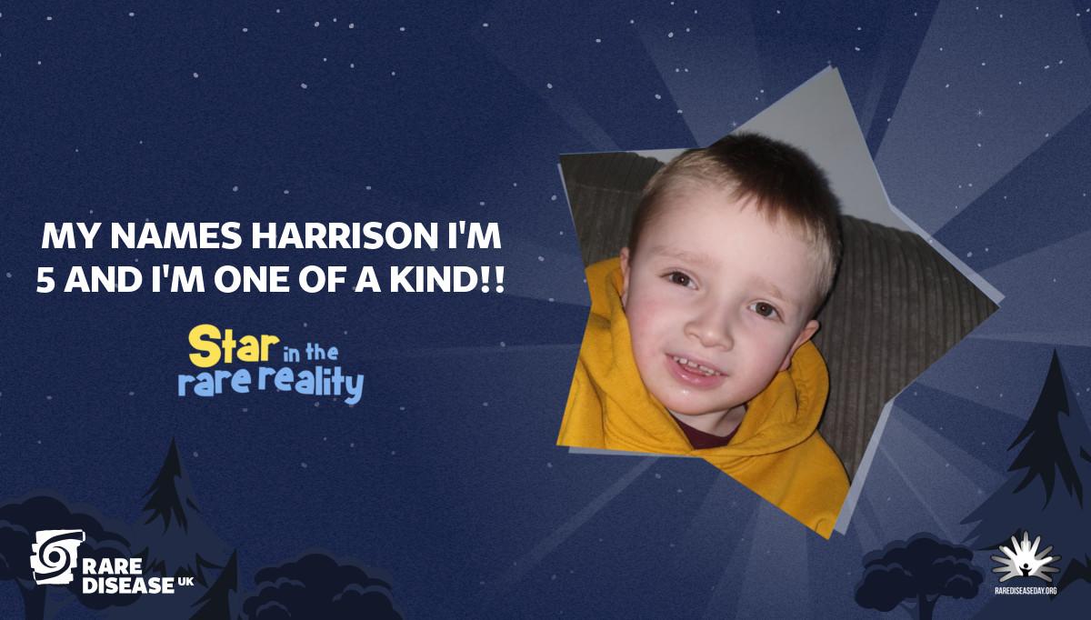 My names Harrison I'm 5 and I'm one of a kind!!
