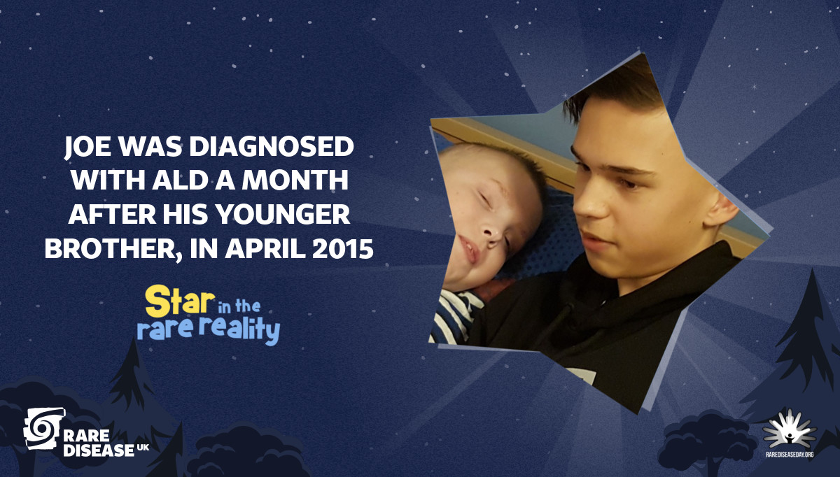 Joe was diagnosed with ALD a month after his younger brother, in April 2015