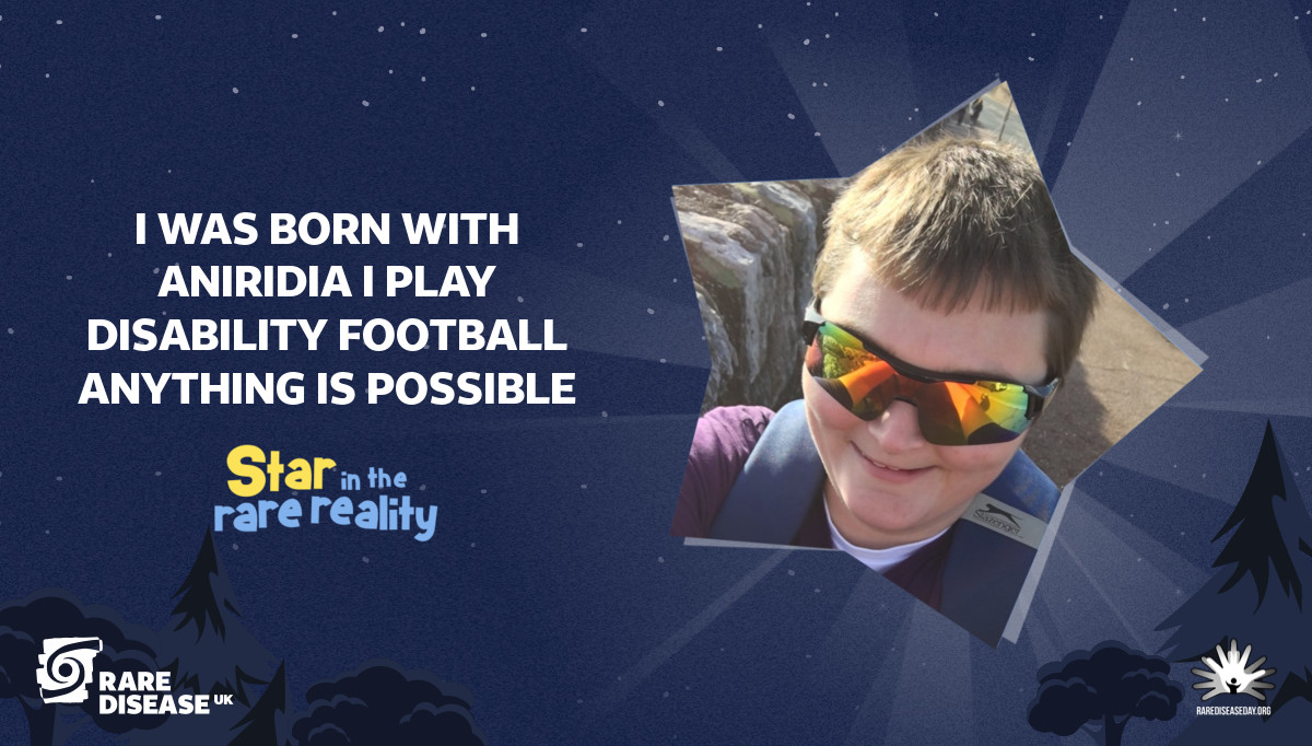 I was born with aniridia I play disability football anything is possible