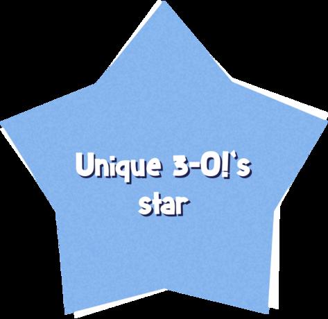 Unique 3-O!'s star