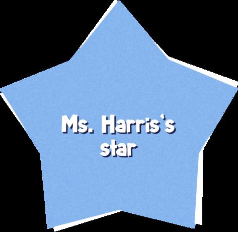 Ms. Harris's star